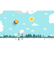 winter landscape city park meadow covered vector image vector image