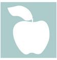 apple the white color icon vector image