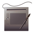 graphics tablet top view vector image