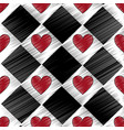 hearts in checkered pattern icon image vector image