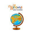 welcome back to school poster banner postcard vector image