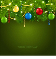 Christmas card with a beautiful tree vector image