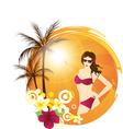 palm beach girl vector image