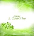 abstract light background with green clovers vector image vector image