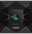 abstract monochromatic gray background with 3d vector image vector image