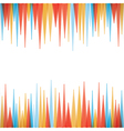 abstract sharp zig-zag border style background vector image vector image