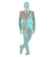 anaglyph 3d male businessman and robot in vector image vector image