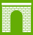 arch icon green vector image vector image