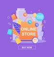banner online store special offer 50 percent vector image vector image