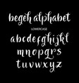 begeh alphabet typography vector image vector image