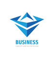 business development strategy - abstract logo vector image vector image