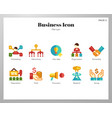 business icons flat pack vector image vector image