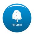 chestnut tree icon blue vector image