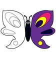 Color by example butterfly vector image