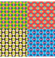 Colored Geometric Patterns Set vector image