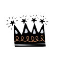 crown silhouette with decorative elements vector image