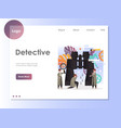 detective website landing page design vector image vector image