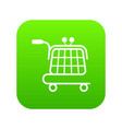 economy trolley icon green vector image vector image
