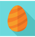 Egg with lines for Easter vector image