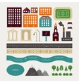 Elements of town architecture vector image