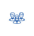 engineers team line icon concept engineers team vector image vector image