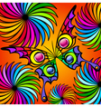 Exotic colorful butterfly vector image