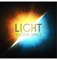 explosion colorful yellow and blue light and vector image