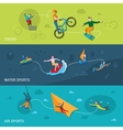 Extreme Sports Banners vector image vector image
