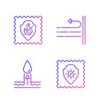 fabric characteristics gradient linear icons set vector image vector image