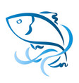 fish silhouette abstract vector image