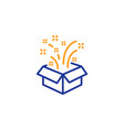 gift box open line icon christmas or new year vector image