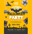 halloween disco party poster with full moon vector image