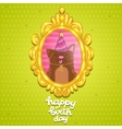 Happy Birthday card background with a dog vector image vector image