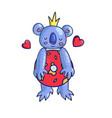 koala bear character vector image