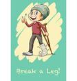 Man with broken leg vector image vector image