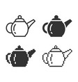 monochromatic brewing teapot icon in different vector image vector image