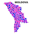 mosaic moldova map of round items vector image vector image