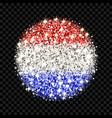 netherlands flag sparkling badge vector image