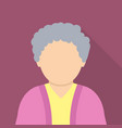 old woman icon flat style vector image