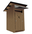 Outhouse vector image vector image