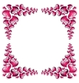Picture frame silhouette to the Valentines day vector image