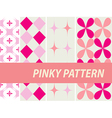 Pinky patterns vector image vector image