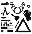 Road kit silhouettes set vector image
