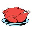 roast turkey icon cartoon vector image vector image