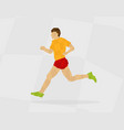 runner polygon vector image vector image