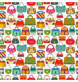 seamless pattern with different women bags vector image vector image