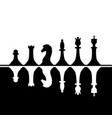 set black and white chess pieces white chess vector image