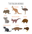 set of Australian animals icons vector image vector image