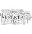 skeletal word cloud concept vector image