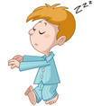 sleepwalking kid vector image vector image